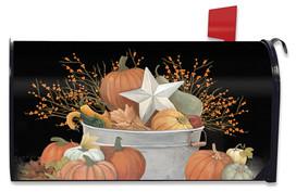 Fall Bushel Primitive Mailbox Cover