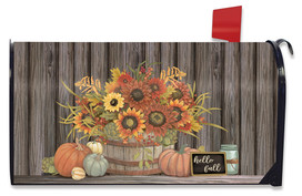 Hello Fall Floral Primitive Mailbox Cover