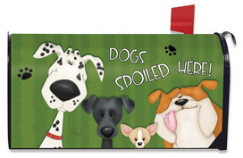 Spoiled Dogs Fall Mailbox Cover