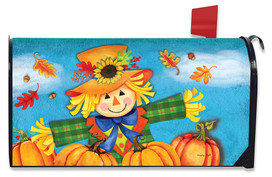 Harvest Celebration Scarecrow Fall Mailbox Cover