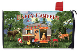 Great Outdoors Camper Fall Mailbox Cover