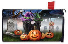 Spooky Kittens Halloween Mailbox Cover