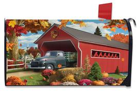 Harvest Bridge Autumn Mailbox Cover