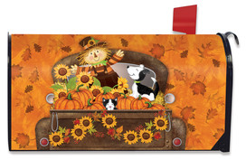 Fall Harvest Pickup Mailbox Cover