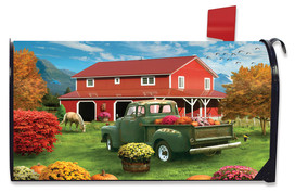 Farm Fresh Mums Autumn Mailbox Cover