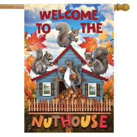 Nut House Fall House Flag