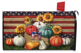 Patriotic Pumpkins Autumn Large / Oversized Mailbox Cover