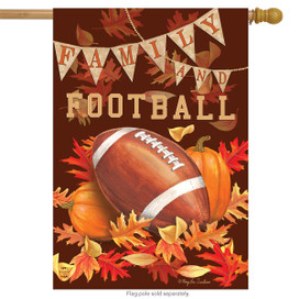 Family & Football Fall House Flag