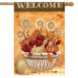 Harvest Bounty Autumn House Flag