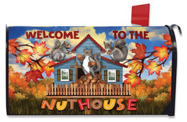 Nut House Fall Mailbox Cover