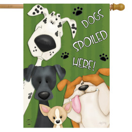 Spoiled Dogs Fall House Flag