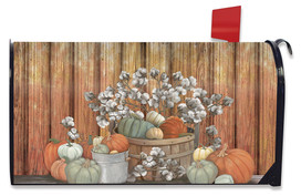 Pumpkins and Willows Autumn Mailbox cover