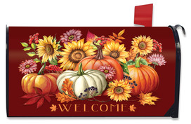 Fall Beauty Floral Mailbox Cover