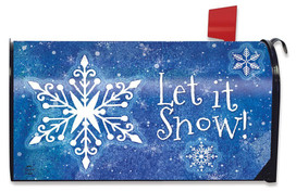 Snowflakes Winter Magnetic Mailbox Cover