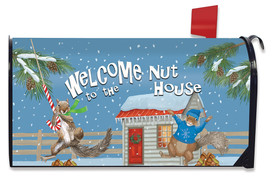 Winter Nuthouse Squirrels Mailbox Cover