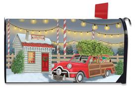 Home For Christmas Mailbox Cover