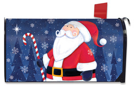 North Star Santa Christmas Mailbox Cover