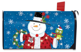 Snow Day Cheer Christmas Mailbox Cover