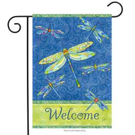 Dragonfly Flight Spring Garden Flag