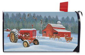 Winter On The Farm Mailbox Cover