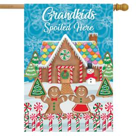 Grandkids Spoiled Here Fall House Flag