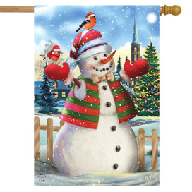 It's Snowing Christmas House Flag