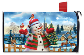 It's Snowing Christmas Mailbox Cover