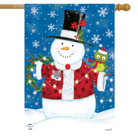 Snow Day Cheer Christmas House Flag