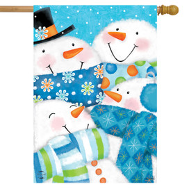 Snow Buds Winter House Flag
