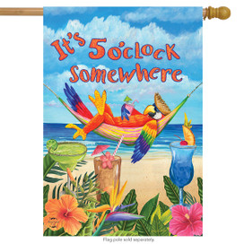 5 O'clock Parrot Summer House Flag