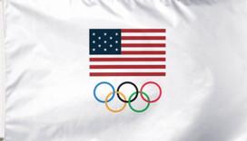 USOC Team USA Logo Deluxe Grommet Flag