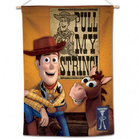Woody and Bullseye Toy Story House Flag
