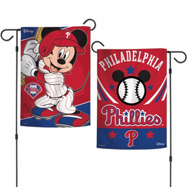 Philadelphia Phillies Mickey Mouse Garden Flag