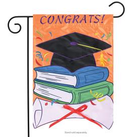 Congrats! Graduate Applique Garden Flag