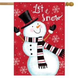 Snowman Celebration Winter House Flag