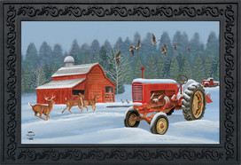 Winter On The Farm Doormat