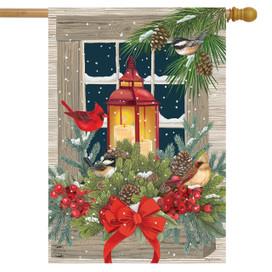 Magic Of The Season Winter House Flag