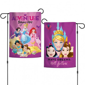 Disney Princesses Adventure Begins Here Garden Flag