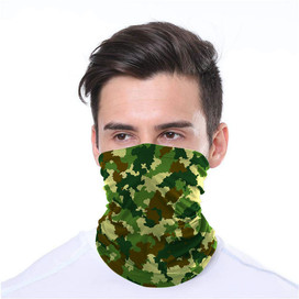 Camouflage Wrap-Around Face Covering Neck Gaiter