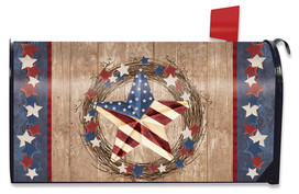 Americana Barnstar Patriotic Large / Oversized Mailbox Cover