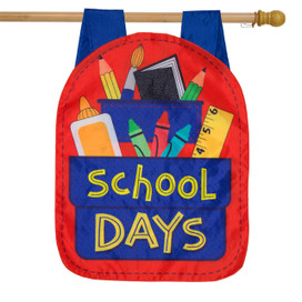 School Days Fall Applique House Flag
