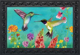 Hummingbird Greeting Spring Doormat