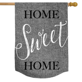 Home Sweet Home Burlap House Flag