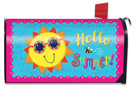 Hello Summer Sun Magnetic Mailbox Cover