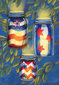 Patriotic Luminaries Summer House Flag