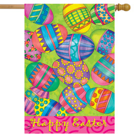 Easter Eggs Holiday House Flag