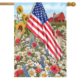 America the Beautiful Summer House Flag