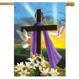 Easter Sunrise Religious House Flag