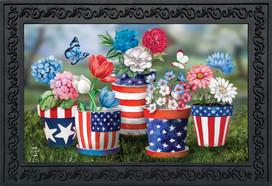 America In Bloom Summer Doormat