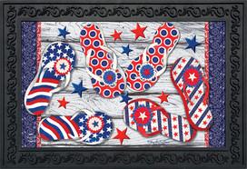 Freedom Flip Flops Summer Doormat